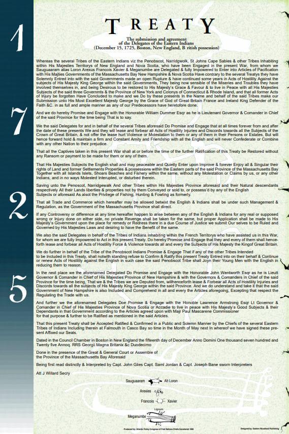 Treaty 1725   Atlantic Policy Congress